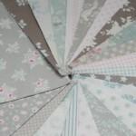 Tilda All That is Spring Patchwork-Stoffe 42 Stück Braun, Taupe, Pink, Blau, Creme 12,5 x 12,5 cm, für Quilten, Blumen, Punkte, Sterne, Streifen, Karomuster