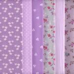 Stoffpaket (Lavendel) | 6 Stoffe | 100% Baumwolle | 46 x 56 cm