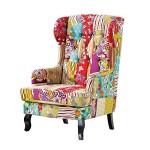 Gemütlicher Patchwork Sessel