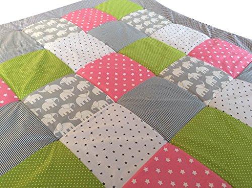 premium baby patchwork decke. Black Bedroom Furniture Sets. Home Design Ideas