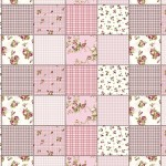 Erstklassiger Baumwollstoff 0,5lfm, 100% Baumwolle, modische Muster, Breite 160cm - Patchwork rosa