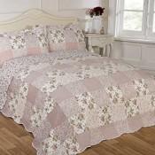 Patchwork-Bettdecke gesteppt