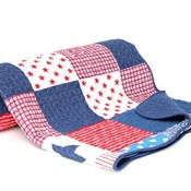 USA Plaid Patchwork Tagesdecke