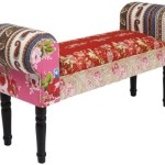 Patchwork Sofa Wing Red
